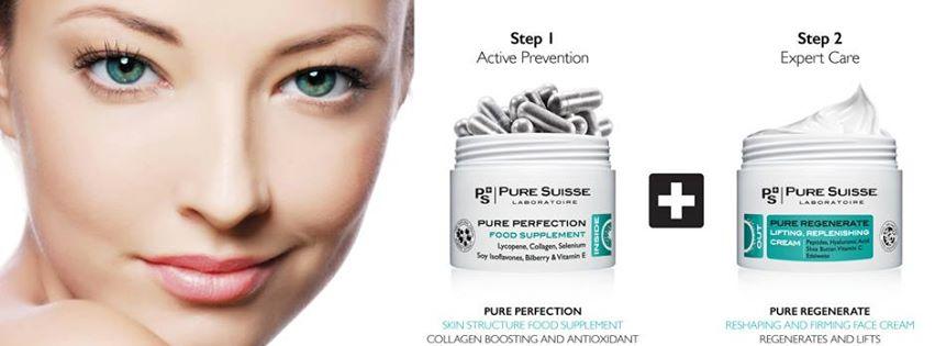 Уход за кожей Pure Suisse: крем плюс биологически активная добавка